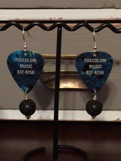 Fender Blue Black Earrings