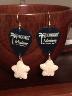 Fender Blue Earrings
